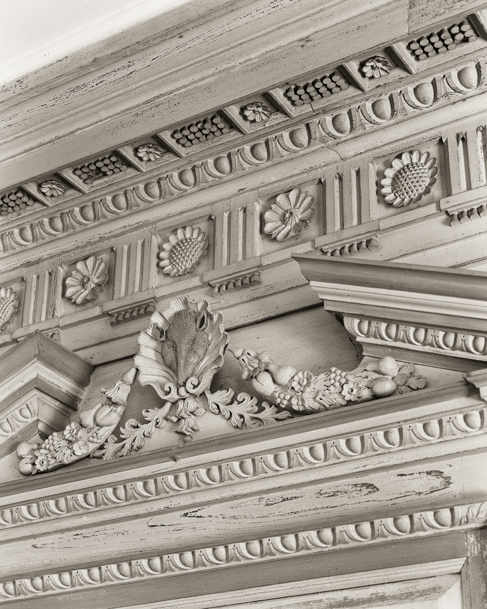 Great Room, Mantle detail, Drayton Hall